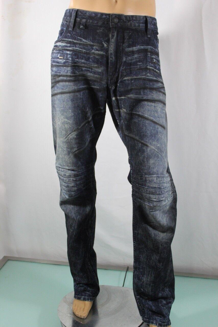 Robin S Jeans Neu Herren Moto Motard Schnurrhaare Vintage Sz 40 10 Pocket