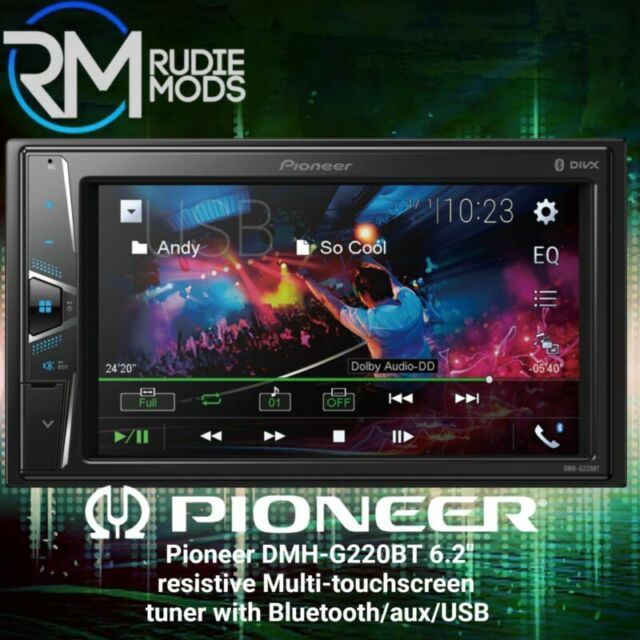 "6.2/"" Multi-touchscreen CD//DVD tuner with Bluetooth AVH-G220BT New and Boxed"