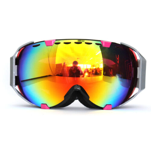 Adults Ski Snow Googles Snowboarding Skating Anti-Fog Lens 100/% UV400 Protection