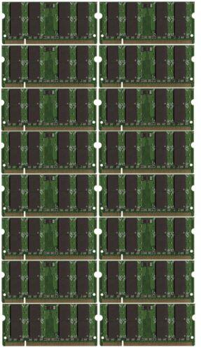16x2GB Memory PC2-5300 SODIMM For Lenovo Thinkpad T61p 32GB BULK LOT