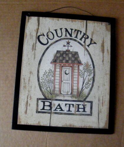 HOT BATH 5c Soap /& Towel Extra wood Sign Country Bathroom powder room decor 4x12