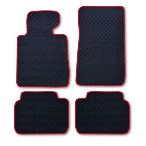 Ruvido tappetini in gomma Octagon nastro rosso BMW 3er e46 e 46 Berlina anno 3//98-2//05