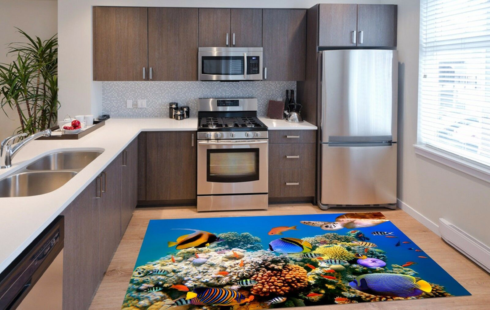 3D Sea Fish 51 Kitchen Mat Floor Murals Wall Print Wall AJ WALLPAPER AU Kyra