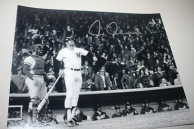 NY YANKEES CHRIS CHAMBLISS SIGNED 8X10 PHOTO 1977-78 WS CHAMPS WALK OFF POSE