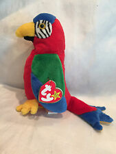 Collectible 1997/98 TY Beanie Baby Jabber the Parrot Tag Error