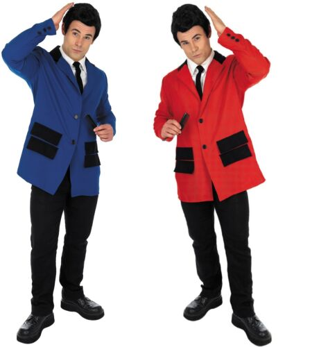 Mens Red or Blue 1950s Teddy Boy Suit 50s Fancy Dress Party Costume Outfit M-XL
