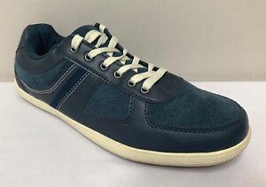 M-amp-s-collection-homme-bleu-marine-en-Cuir-a-Lacets-Baskets-Taille-UK-7