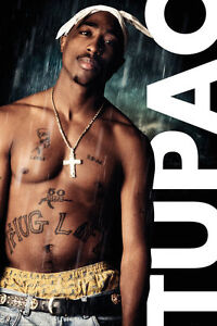 Image Is Loading TUPAC SHAKUR 2PAC MUSIC PERSONALITY POSTER RAIN