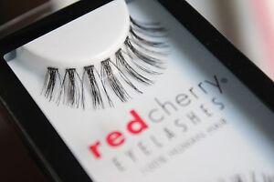 Red-Cherry-MOLLA-110-schwarz-falsche-kuenstliche-Echthaar-Wimpern-strip-lash