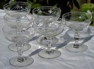 Service-de-6-coupes-a-champagne-en-cristal-taille-Circa-1930