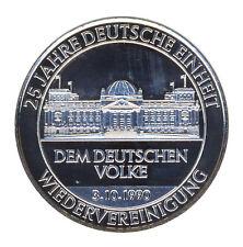 DEUTSCHLAND - Reichstag - 25 Jahre Deutsche EINHEIT - SILBER - ANSEHEN