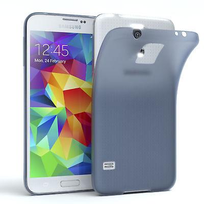Schutz Hülle für Samsung Galaxy S5 / Neo Cover Handy Case Matt Dunkeblau