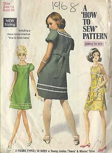 Vintage kleider 1968