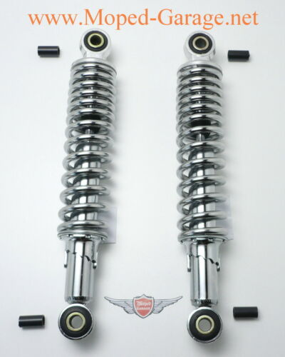 Kreidler 310mm Chrom Federbeine einstellbar Progressiv Mofa Moped Mokick Neu*