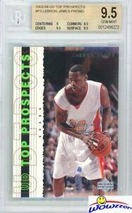 LEBRON-JAMES-2003-04-Upper-Deck-Top-Prospects-P3-ROOKIE-BGS-9-5-GEM-MINT-GOAT