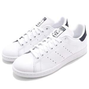 Dettagli su adidas Originals Stan Smith White Navy Men Women Casual Shoes Sneakers M20325