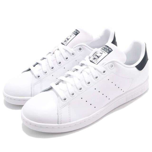 adidas Originals Stan Smith White Navy Men Women Casual Shoes Sneakers M20325