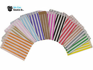Image Is Loading Candy Stripe Paper Bags Sweet Favour Buffet Gift