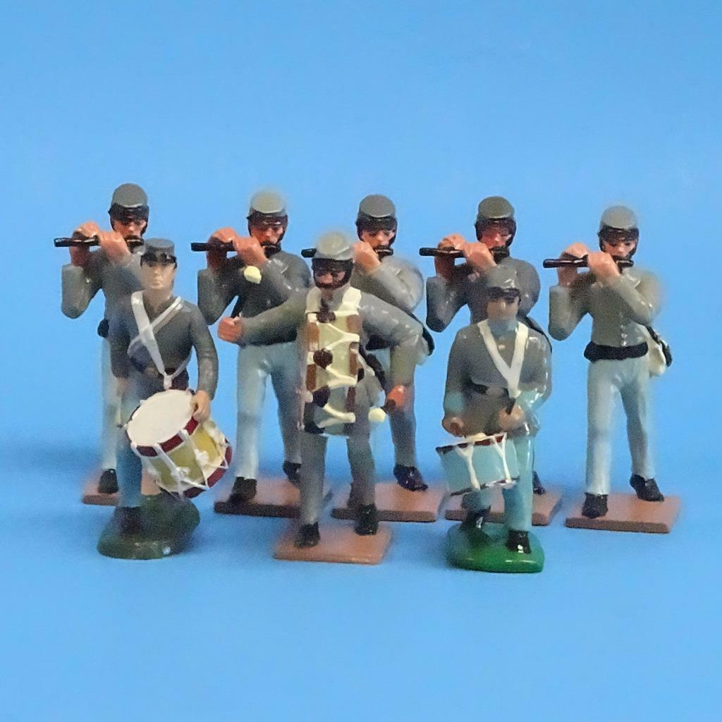 CORD-0529 - Confederate Fife and Drums (8 Figures) - ACW - LeMans Unknown Manufa
