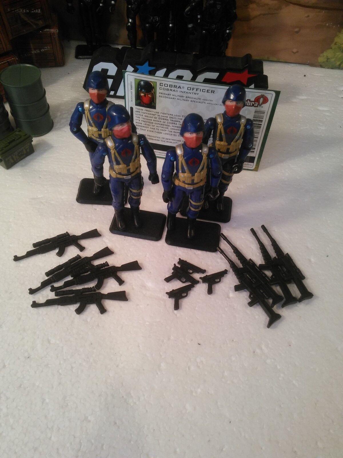 Comic Pack  4 2004 Cobra Infantry  COBRA OFFICERv2  100% CMP  Army Builder