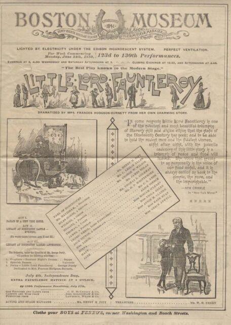 Frances Hodgson Burnett Rare Illustrated 1889 Little Lord Fauntleroy