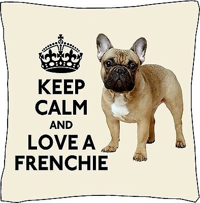 French Bulldog I Love Frenchies Cushion Cover Christmas Gift Stocking Filler Ebay
