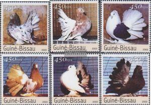 Guinea-Bissau-2476-2481-kompl-Ausg-postfrisch-2003-Rassetauben