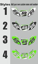 Number Plate Graphics for 2006-2008 Kawasaki KX 250f KXF 250 Side Panels Decal