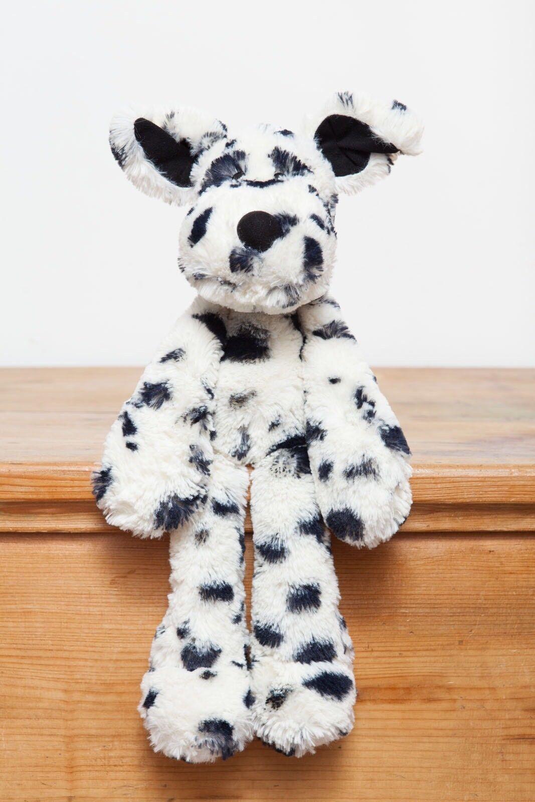 Jellycat Merryday Dalmatian Pup Dog (short Tail)