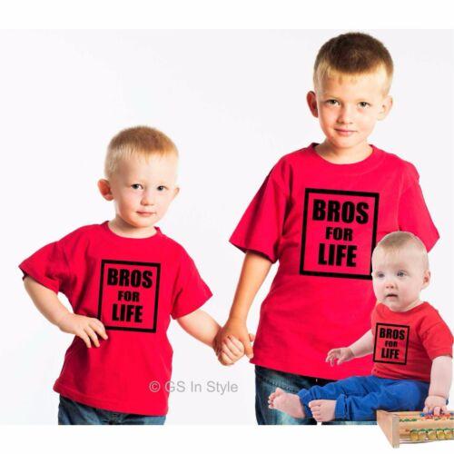 Bros for Life T-shirt per bambino baby Child Kid//pari livello regalo Brothers