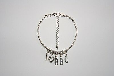 Aspiring 'i <3 Bbc' Euro Chaîne De Cheville Hotwife Bracelet De Cheville Interracial Slut Easy And Simple To Handle Fashion Jewelry Anklets