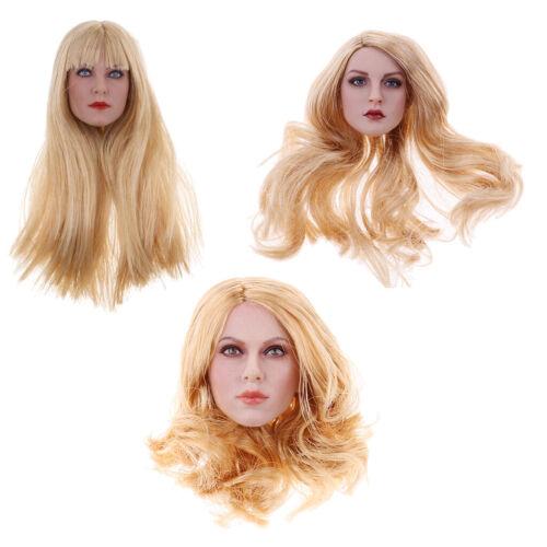 1//6 Female Beauty Soldiers Kopfskulptur Modell Golden Hair für 12 /'/'