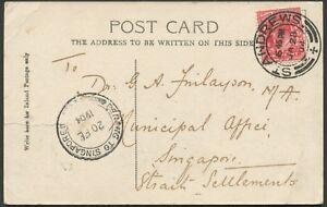 Postal-History-Malaya-1904-JA28-ST-ANDREWS-Scotland-cds-on-real-photo-PC