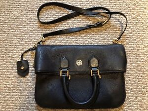 2db5d49ad3c Image is loading Tory-Burch-Robinson-Pebble-Fold-Over-Messenger-Bag-