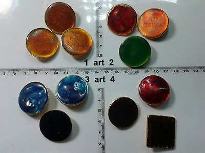 1 Lotto Bottoni Gioiello Smalti Pietre Vetro Murrine Buttons Boutons Vintage G3 In Corto Rifornimento
