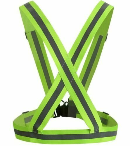 Adjustable Safety Security High Visibility Reflective Vest Night Running