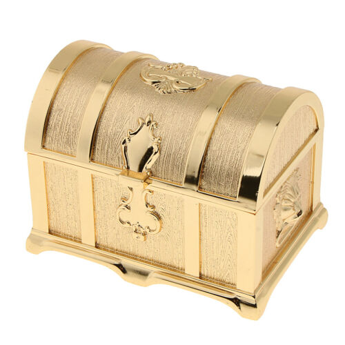 Blesiya Zinc Alloy Treasure Chest Trinkets Jewelry Box Antique Fashion Case