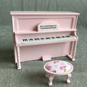 1-12-Dolls-House-Upright-Piano-Set-Accessories-Furniture-Toys-Mini-Natural-Wood