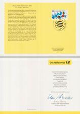 Klappkarte 16.9.99 Dt. Fußballmeister 1999 FC Bayern München (MiNr.2074)