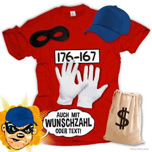 T-Shirt-Panzerknacker-Kostuem-Shirt-Verkleidung-Set-Karneval-JGA-Fasching-Kinder