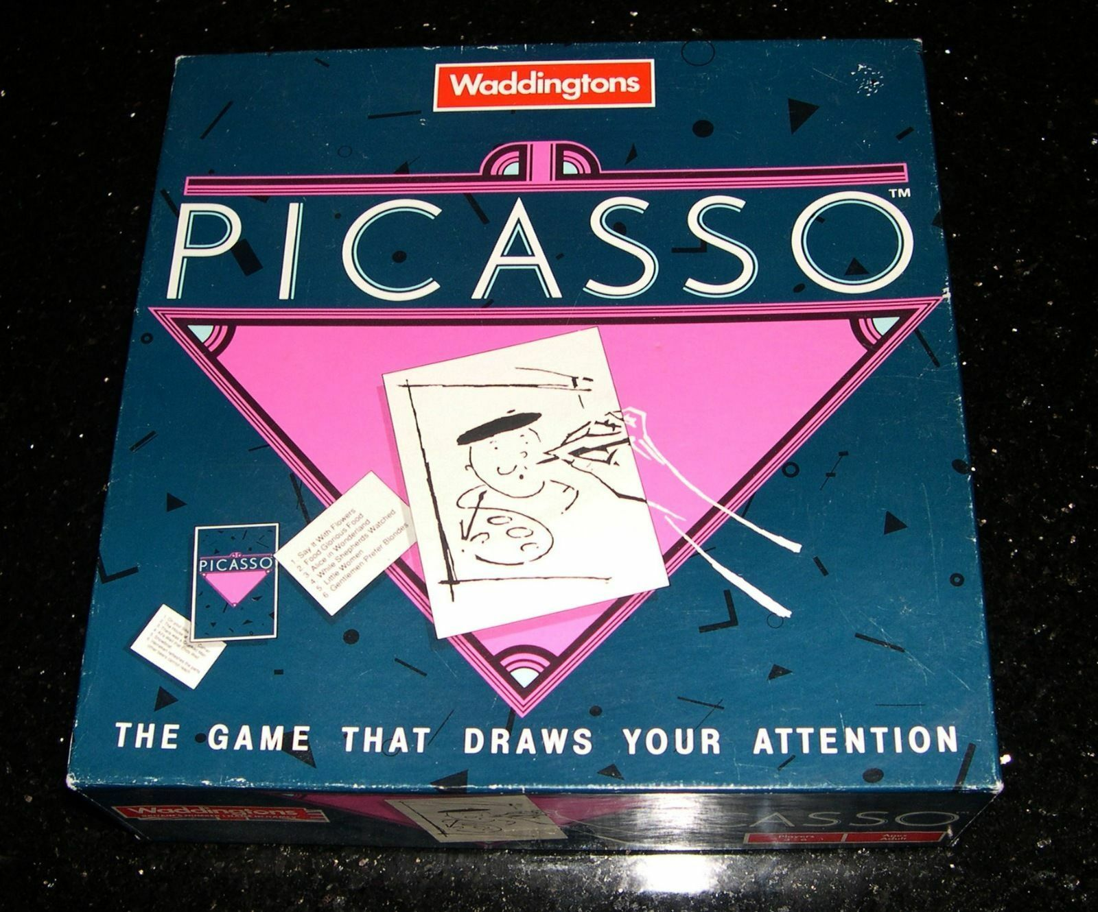 Picasso Board Game (Waddingtons Drawing Game1990) EXC COND