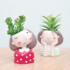 Home-Garden-Decor-Cute-Lovely-Girl-Flower-Planter-Flower-Pot-Succulent-Plant-Pot