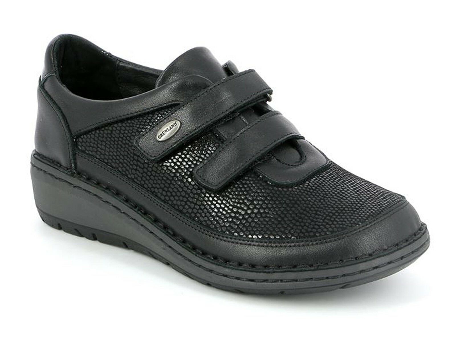 zapatos zapatillas A A A DOPPIO STRAPPO mujer GRUNLAND INVERNO SC4029  NESI negro ef7546