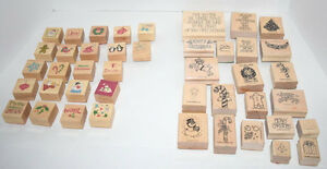 Rubber Stamps 43 Seasonal Christmas Stamps Stampin Up Unbranded