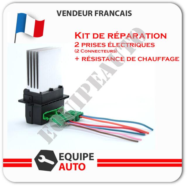 Prise de branchement + resistance de ventilation scenic 2 megane 2 =7701207718