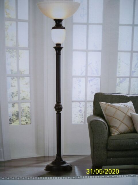 Portfolio 74 In Oil Rubbed Bronze 4 Way Torchiere With Night Light