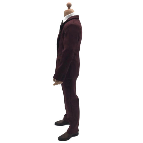 1//6 Scale Deep Red Suit Set for 12 inch HOT TOYS HT Male Action Figures Body