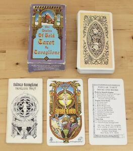Vintage-1979-The-Stairs-of-Gold-Tavaglione-Tarot-Deck-Cards-w-Booklet-COMPLETE