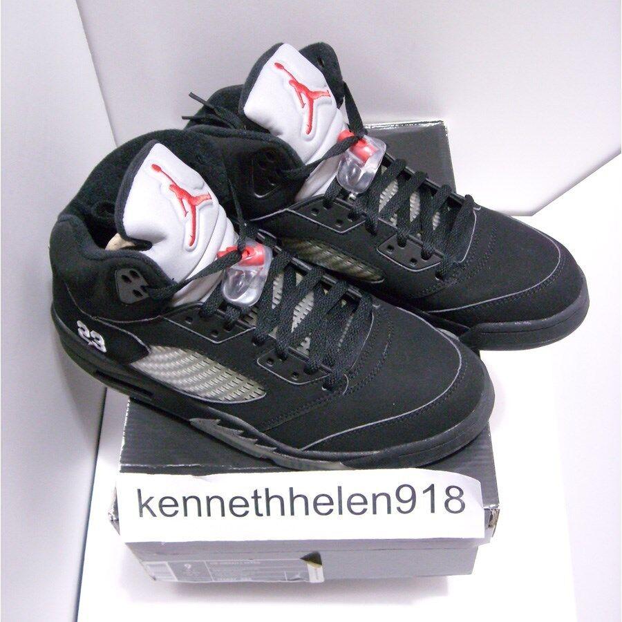 uk availability 70850 b81d6 Nueva Nueva Nueva 2018 Nike Air Jordan v 5 retro negro plata metalizado  rojo fuego Hombre