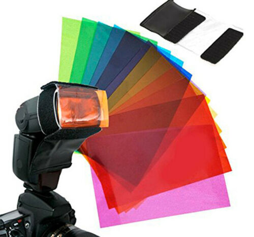 DIFFUSORE GEL 12 COLORI SOFTBOX FLASH ADATTO A GODOX V350C V350N V350S V350F V35